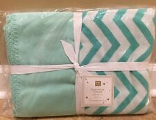 NEW Pottery Barn Teen Essential Dorm Throw POOL Chevron