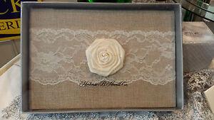 Rustic County Guest Book by Hortense B. Hewitt 25223, Wedding, burlap guest book