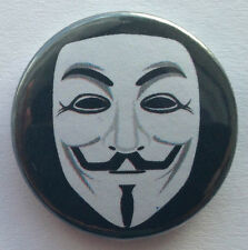 BUY 2 & GET 1 FREE - Anonymous 25mm 1'' Pin Button Badge Internet Hacked Cyber