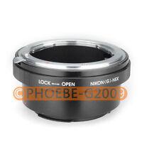 Nikon G AF-S F Lens to SONY NEX E Mount Adapter NEX-7 NEX-5 NEX-3 NEX-VG10