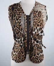 sz 34 / 0 Tom Ford Yves Saint Laurent Rive Gauche leopard jacket vest top safari