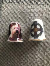 Scottish Themed Thimbles Scotty Dog And Cross