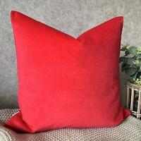 """Modern Cushion Cover 18""""John Lewis Cotton Velvet Christmas Decor Red"""