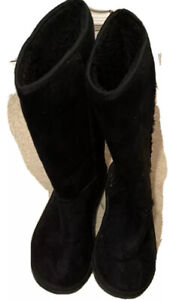 Ladies Women Winter Fur Lined Mid Calf Boots Snow Warm Comfy Size 6