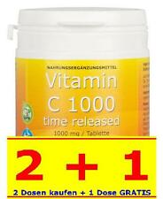 VITAMIN C 1000mg VEGAN Bioflavonoid TIME RELEASED 100 Tabletten Made in Germany!