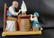 1983 Norman Rockwell Museum Mini Figurine For A Good Boy Porcelain