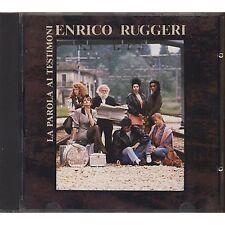 ENRICO RUGGERI - La parola ai testimoni - CD 1988 MADE IN FRANCE USATO OTTIME