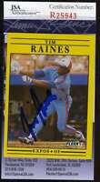TIM RAINES 1991 FLEER JSA COA Hand Signed Authentic Autographed EXPOS