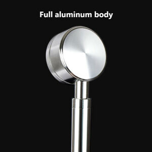 Space Aluminum alloy High Pressure Handheld Showerhead Water saving Soft Ultra