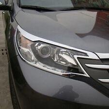 Chrome Front Headlights Lamps Cover Frame Trim For Honda CR-V CRV 2012 2013 2014