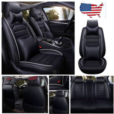 5 Seats PU Leather Car Seat Cover Full Set Front Rear Seat Cushion Mat Protector