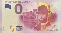 BILLET 0  EURO  MUSEE TOULOUSE LAUTREC ALBI  FRANCE  2017  NUMERO 100