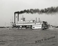 Historical Photograph of the Paddle Wheel Steamship Jas T. Staples 1906 8x10