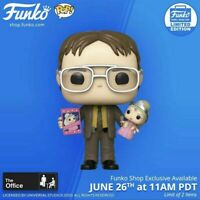 ✅✅Funko Pop Office Dwight Schrute With Princess Unicorn Doll✅✅ Free Shipping✅✅