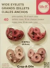 We R Wide Eyelets, Pack of 40, Crop-A-Dile, Mixed PINK Wide Eyelets