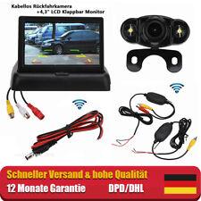 """Funk Einparkhilfe 170° Rückfahrkamera ink.4,3"""" Klappbar LCD Monitor Nachtsicht"""