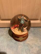 Emmett Kelly Clown Musical Snow Globe Weary Willie Authorized Edition 1991