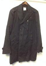 MEN'S DIESEL BLACK COTTON WOOL BLEND BUTTON FRONT COAT SZ XL