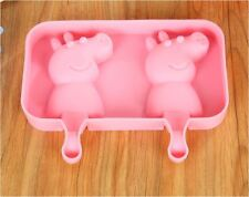 DIY Cute Peppa Pig Brick Ice Block Chocolate Block Lolly Pop Silicone Mold Mould