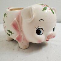 Vintage Relpo Piggy Bank & Planter 1962 Samson Import Hand Painted