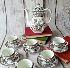 Small Vintage/Shabby Chic Wedgwood Asiatic Pheasant Teaset with 6 Duos