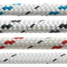 MARLOW Doublebraid 8mm rope - red fleck - sold by the Metre