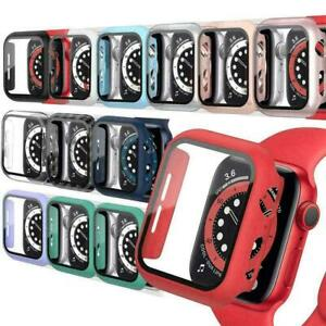 Hard Case with Tempered Glass Screen Protector for Apple Watch Series 2/3/4/5/6