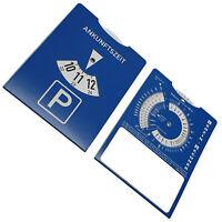 Euro Parkscheibe Parkuhr blau aus Papier kein Plastik! Mit Benzinrechner NEU