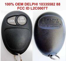 100% OEM GMC Chevy Hummer H3 2 BUTTON keyless Remote DELPHI 10335582 88 L2C0007T