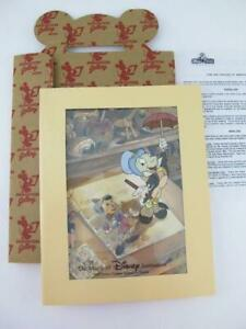 Disney Florida Animation Cel Pinocchio JIMINY CRICKET Just Dropping By Artwork