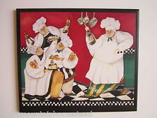 Chef French Kitchen Wall Decor Plaque fat chefs sign picture wine waiters red