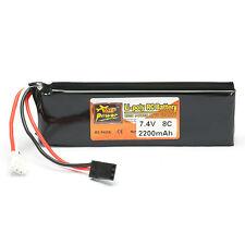 ZOP Power 7.4V 2200mAh 2S 8C Lipo Battery FUTABA Plug