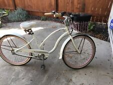 """Electra """"Betty"""", White with Pink Rims"""