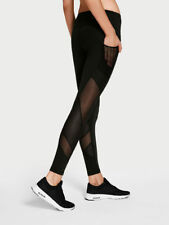 DUSTY PINK new VICTORIA's secret SPORT VSX mesh POCKET tight  Leggings L short