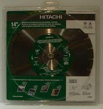 """Hitachi 339593 14"""" Segmented Rim Diamond Blade Fast Brick Block Concrete"""