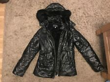 Armani Jeans Ladies Womens Puffa Style Hooded Jacket (Black) UK Size 8/10