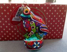 Christopher Radko Christmas Ornament Painted Frog Froggy Deluxe, #1018002 NIB