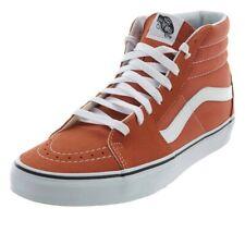 04fd7f0bc274 Vans SK8-hi Shoes sneaker orange autumn glaze suede canvas MEN SIZe 13 new