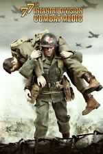 """DID WWII US 77th Infantry Division Combat Medic """"Dixon"""" w/ 2 Heads 1/6 Figure"""