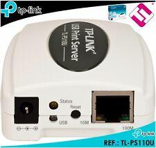 TP-LINK TL PS110U SERVER OF PRINTING PORT USB 2.0 FAST ETHERNET PRINT SERVER