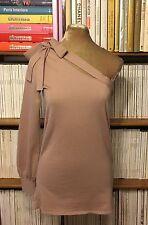 PHILOSOPHY ALBERTA FERRETTI rosa di una spalla Maglione Top IT 42/UK 10-12