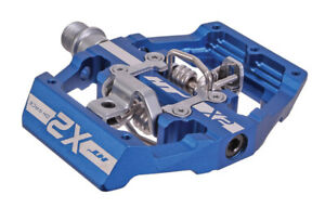HT Pedals X2 clipless platform pedals, CrMo - royal blue