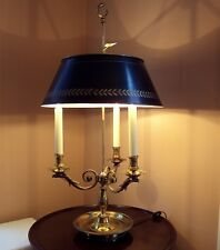 """French Empire Eagle Bouillotte Lamp w Metal Tole Shade/Large 31"""" Handmade France"""