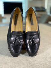 Mezlan Santander Mens Black Loafers Leather Kiltie Tassel Shoes Sz 12 VGUC