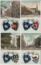 Lot of 4 Old English Postcards - Scenes of Oxford Varsity