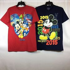 Disney Men's 2 Pack Mickey Mouse T-Shirts, Small