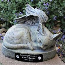 Kitty Cat Angel Pet Memorial Urn 9 inch Garden Statue Personalized Free
