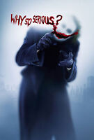 The Joker Heath Ledger Why So Serious Giant Poster - A0 A1 A2 A3 A4 Sizes