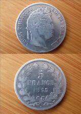 Pièce monnaie 5 FRS 1833 LOUIS PHILIPPE I ARGENT SILVER état voir scan 1