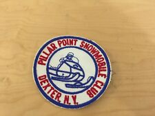 pillar point snowmobile club, patch, dexter, new york 1970's,new old stock